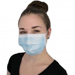 NITRAS PROTECT, Medizinische Gesichtsmaske, blau, 100% Fleece, latexfrei, 3-lagig