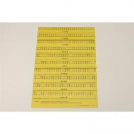 Alphabetleisten DIN A5 Packung gelb