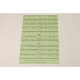 Alphabetleisten DIN A5 Packung 10 Stück grün Spitta Verlag