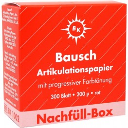 Bausch Artikulationspapier (rot) Nachfüll-Box