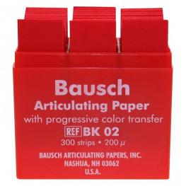 Artikulationspapier 200 µ Plastik-Kassette 300 Blatt rot Bausch