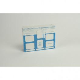 Dentalfilmkarten 21206 selbstklebend 100St