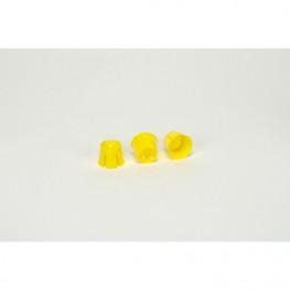 Einmal-Dappenbehälter Kunststoff gelb 50 Stk
