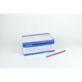 UNIBRUSH Einmal Zahnbürsten Box 100 St. rot Unigloves