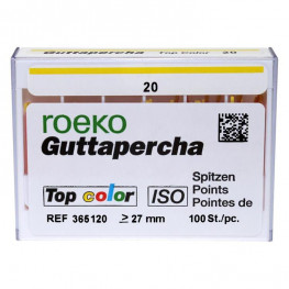 Guttapercha Top color Packung 100 St. ISO 020 Roeko