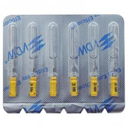 STERILE Hedstroem Feilen 6 Stück 25mm ISO 020 VDW