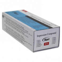 Impression Compound Packung 15 Stangen rot Kerr
