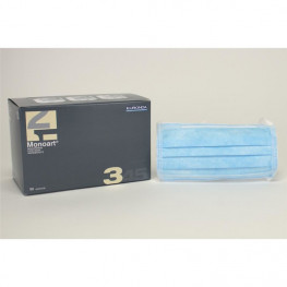 Monoart Mundschutz Protection 3 blau Zorro z.Binden 50St