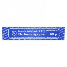 Okklusionspapier 40my blau BK 09