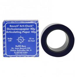 Okklusionspapier 40my 22mm blau BK 1015