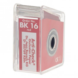 Okklusionspapier 40my 22mm rot BK 16