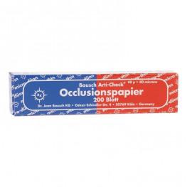 Okklusionspapier 40my blau/rot BK 80