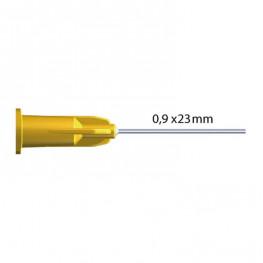 Einmal-Pastenkanülen Luer Transcodent 0,9x23 gelb LL 100 Stk