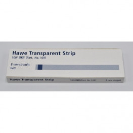 Transparent Strips Packung 100 St. gerade, rot Kerr
