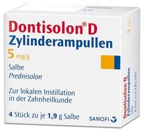 Dontisolon® D 4 x 1,9 g Zylinderampullen 1