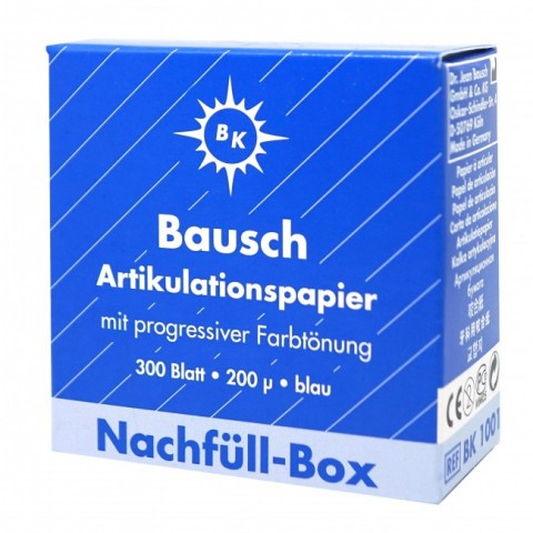 Bausch Artikulationspapier (blau) Nachfüll-Box 1