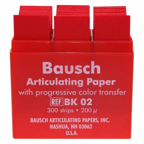 Artikulationspapier 200 µ Plastik-Kassette 300 Blatt rot Bausch 1