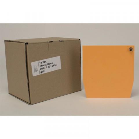 ERGOspace Pckg. 10 Steckplatten safrangelb, 137x142mm KaVo