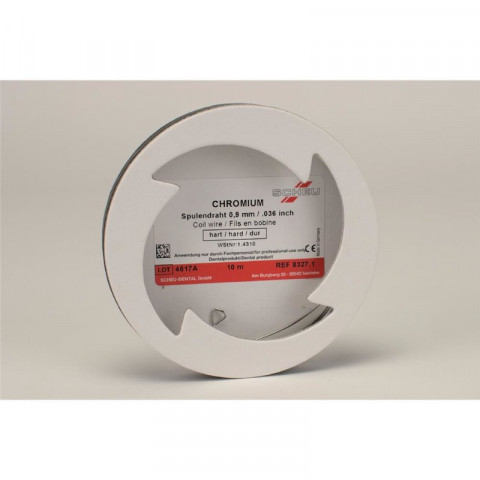 CHROMIUM Spulendraht 10m Spule St. 0,9mm, H SCHEU-DENTAL 1