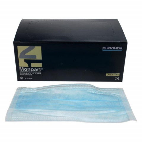 Monoart Mundschutz Protection 3 blau Zorro m.Gummi