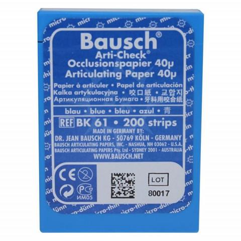Okklusionspapier 40my blau BK 61 Box 1