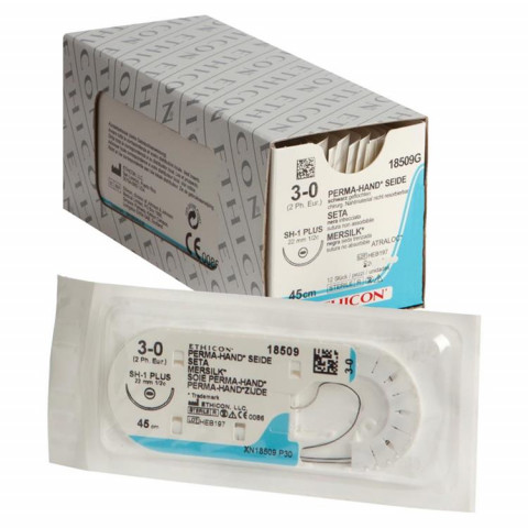 PH-Seide Pckg. 12 St. SH 1-plus, USP3/0, 2 Johnson & Johnson MEDICAL ETHICON 1