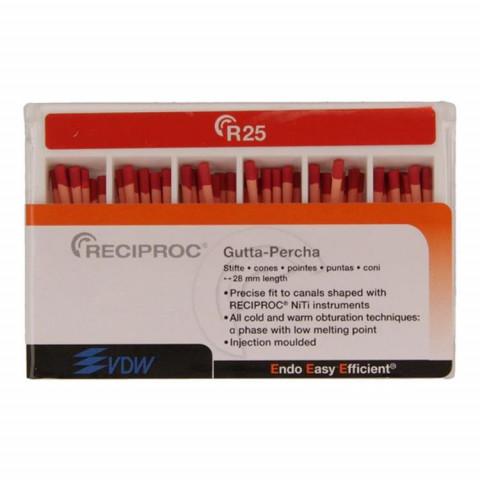 RECIPROC® Guttapercha 60 Stück ISO 025 VDW